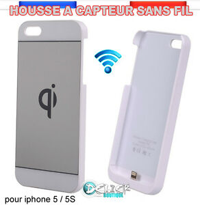 Coque Chargeur Sans Fil Wireless Charger Qi pour Apple iPHONE 5/S PAD +Cable USB