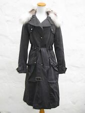 $1800 TOMBOY Fur & Leather Trimmed Parka / Trench Overcoat S - RARE