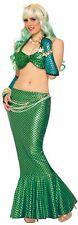 Mermaid Long Tail Skirt Metallic Ariel Sexy Fish Tail Adult Womens Costume Sea