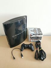 PS3 40GB Official Sony Controller Leads & 9 Games Bundle Playstation 3