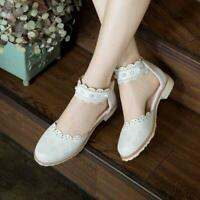 2020 New Fashion Women Mary Jane Round Toe Flat Lolita Shoes Floral Lolita Pumps