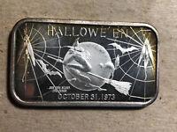 1973 Halloween Madison Mint 1 Ounce .999 Silver Art Bar