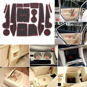 For Toyota Corolla 14-2017 Rubber Non-slip Mat Interior Cup Pad Door Groove Mat