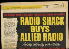 Super Rare Vintage Original 1970 Allied Radio Shack Newspaper Sale Catalog