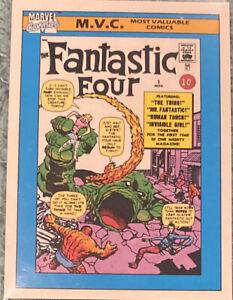 M.V.C. FANTASTIC FOUR #1 / 1990 Marvel Universe Series 1 (Impel) BASE Card #124