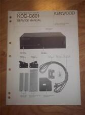Kenwood Service Manual~KDC-C601 CD Changer/Player~Car Audio~Original Repair