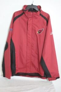 NFL Arizona Cardinals Reebok Team Issued Onfield Apparel full zip Jacket Men XL