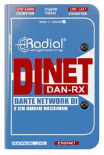 Radial DiNet Dan-RX Dante network receiver, digital inputs, BEST OFFER R031
