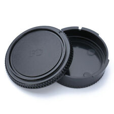 Rear Lens Cap + Front Body Cover Protector For Canon FD Camera Black CA