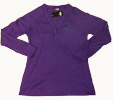 "Harley-Davidson Women's Purple V-neck Henley Shirt ""Instill Life"" 2XL"