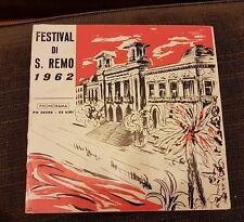 "FESTIVAL DI SANREMO 1962 VINILE 10"" 33⅓ PHONORAMA PH 30380 MICROSOLCO RARO"