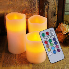 3x LED Kerzen mit Fernbedienung Timer flammenlose Echtwachskerzen Wachskerze