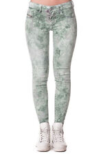 RRP €200 DIESEL W28 Livier-Ankle 0828R STRETCH Treated Low Waist Cropped Jeans