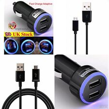 Samsung Galaxy S4 S5 S6 S7 Edge In Car Fast Charger + 5-Pin Usb Charging Cable