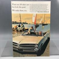 Vintage Magazine Ad Print Design Advertising Pontiac Automobiles