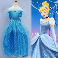 Disney Princess Cinderella Girls Fancy Dress World Book Day Childs Kids Costume