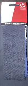 vidal sassoon thermal knit headwrap- 3x black+white