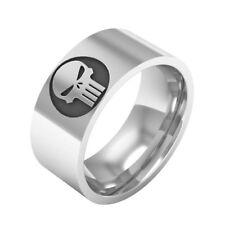 Stainless steel The Punisher ring Stylish fashionable band logo Marvel Comics