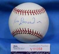 Tom Lasorda Signed Jsa Coa Major League Oml Baseball Autograph Authentic