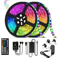 32.8FT Music sync RGB Rooms Bar TV LED Strip Lights Waterproof 10m with Remote