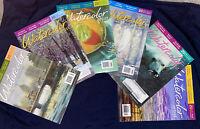 Lot (6) Watercolor Artist Painting Magazine Feb, Apr, Aug, Oct, Dec 2013 LN