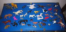Lot of 42 Toys Miscellaneous Animals Assorted Toy Various Sizes Horses Dogs Lion