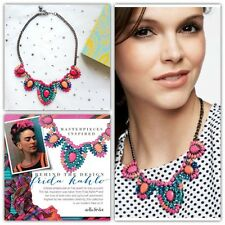 $128 New Stella Dot Frida Statement Bib Necklace Multi Color Floral w Box