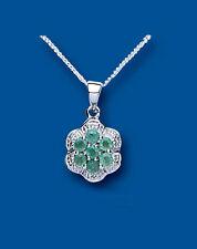 Echtschmuck mit Diamant und Smaragd-Anhänger