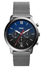 Fossil Men's Ionic Plate Medium Blue Dial Chronograph 44MM Watch 0437