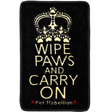 PET REBELLION WIPE PAWS AND CARRY ON CAT BARRIER RUG / DOOR MAT / RUNNER