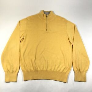 Maus & Hoffman 1/4 Zip Pullover Sweater Jumper Mens M Pima Cotton Knit