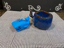 🐳 Bath & Body Works Whale Ceramic Soap Holder w/ Shark Pocket Holder 🦈