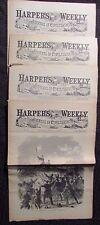 1861/62 Harper's Weekly Journal Newspaper Reissue LOT of 4 FN- 1/11 2/8 3/1 11/1