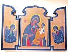 "RELIGIOUS TRIPTYCH ALTAR KRAKOW POLAND "" MADONNA & CHILD"" LARGE"
