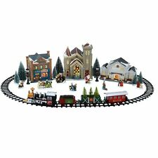 Christmas Village Train Set Holiday Time Decoration Battery Operated NEW GIFT