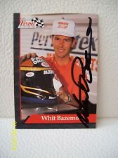 Whit Bazemore AUTOGRAPHED 1993 FINISH LINE NHRA Funny Car Driver SIGNED