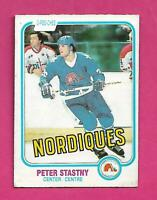 1981-82 OPC # 269 NORDIQUES PETER STASTNY ROOKIE VG CARD (INV# D2003)