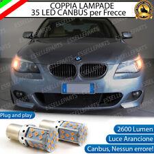 COPPIA LAMPADE PY21W BAU15S CANBUS 35 LED BMW SERIE 5 E60 E61 FRECCE ANTERIORI