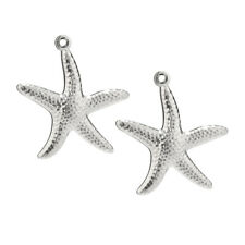 20pcs Stainless Steel Seastar Pendants Quality Charms Findings for DIY Jewelry