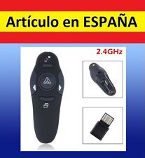Puntero WIRELESS LASER PFE Presentaciones POWER POINT control adaptador USB 1mw