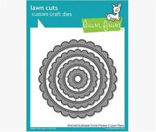 Bare  Raw Chipboard Die Cuts {3} NESTiNG SCALLOP CiRCLES 1 of each Size