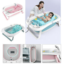 Baby faltbare Duschunterlage Badesitz Badewanne + Badkissen Temperaturanzeige