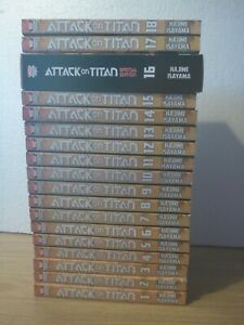 Attack on Titan Vol's 1-18 by Hajime Isayama - Manga Paperback Books