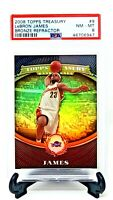 2008 Topps Treasury Bronze REFRACTOR /999 LEBRON JAMES Card PSA 8 NM-MINT Pop 20