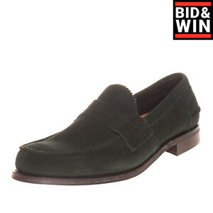 RRP €480 CHURCH'S Suede Leather Penny Loafer Shoes EU 44 UK 10 US 11 Made in UK