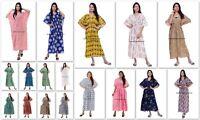 5 PC en Gros Lot Indien Coton Caftan Grande Taille Imprimé Floral Robe Long