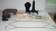 Lot of Ten Jewelry / Collectibles Display Stands Plate Hangers & More