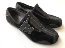Merrell Arabesque Shoes Performance Slip On Zip Ups Black Suede Women's Size 8