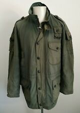 Mens Barbour Distressed Cowen Green Waterproof Jacket - Size Large