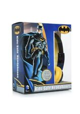BATMAN Headphones DC COMICS Kid Safe ADJUSTABLE OVER EAR Speaker WARNER BROS New